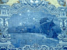 another great painted ocean scene Lisbon, Portugal