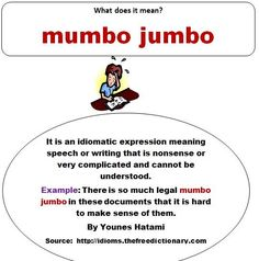 Mumbo jumbo definition. -         Repinned by Chesapeake College Adult Ed. We offer free classes on the Eastern Shore of MD to help you earn your GED - H.S. Diploma or Learn English (ESL) .   For GED classes contact Danielle Thomas 410-829-6043 dthomas@chesapeake.edu  For ESL classes contact Karen Luceti - 410-443-1163  Kluceti@chesapeake.edu .  www.chesapeake.edu