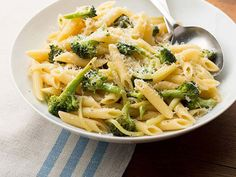 Garlic Oil Sauteed Pasta with Broccoli-GREAT way to use up leftover cooked pasta!!