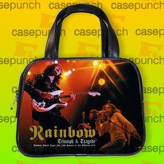 An7-rainbow Long Live Rock N Roll Handbag Purse Woman Bag Classic