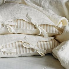 2 linen pillowcases with ties stone washed linen pillow sham Linen Pillows, Linen Fabric, Linen Bedding, Bedding Sets, Throw Pillows, Bed Linens, Neutral Bed Linen, Black Bed Linen, Pillow Shams