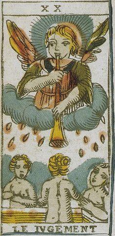 XX. Judgement:  Lombardischen Tarot, Angelo Valla, Trieste