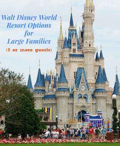 Walt Disney World Resorts for Large Families (5+ People)