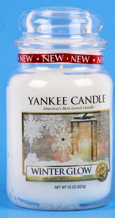 Yankee Candle Winter Glow Large Jar 22 Ounce White Festive Fragrance Collection #YankeeCandle