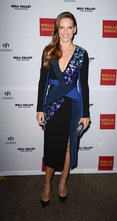 Hilary Swank in Peter Pilotto