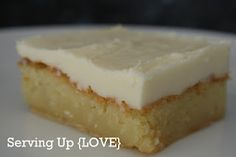 White Chocolate Brownie! I think I may add some peanut butter to the icing and call it heaven!