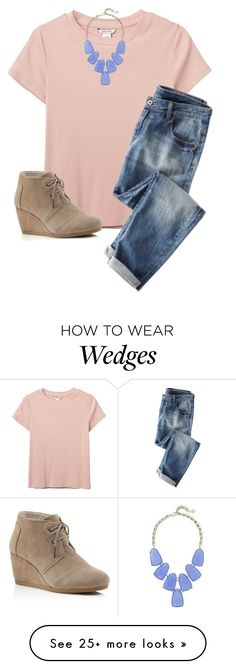 """Shout out to my new home girl"" by ica1234 on Polyvore featuring Monki, Kendra Scott and TOMS"