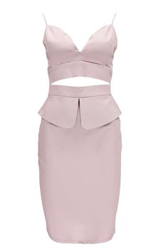 Alissia Peplum Detail Crop Top And Skirt Co-Ord alternative image