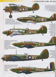 RAF plane's of ww2