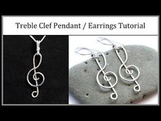 awesome DIY Bijoux - Music Notes and Treble Clef Wire Jewelry Tutorials ~ The Beading Gem's J...