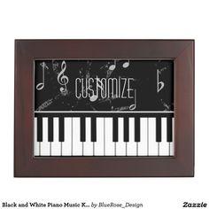 Shop Black and White Piano Music Keepsake Box created by BlueRose_Design. Wooden Keepsake Box, Keepsake Boxes, White Piano, Invite Your Friends, Piano Music, E Design, Black Velvet, Cyber, Colorful Backgrounds