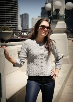 Cabled Sweater Pattern - Cardigan Knitting Pattern