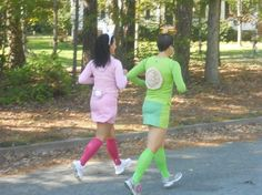 tortoise and the hare costumes. totally want to do this for a race! Team Costumes, Running Costumes, Theatre Costumes, Super Hero Costumes, Cool Costumes, Halloween Costumes, Costume Ideas, Halloween Ideas, Running Outfits