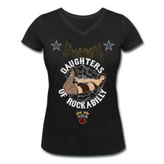 Daughters Of Rockabilly by Ted Dollar 2012 #rockabilly #bettie page #pinup #motorcycle #suicide girl #burlesque #tattoo #ink #roller derby #vintage #custom #star #rose #teddollar http://teddollar.spreadshirt.fr/daughters-of-rockabilly-I14805950
