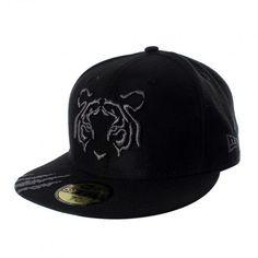 Apoya a tus Tigres de corazón con la gorra New Era 5950 Tigres Scratch. New Era Cap, Baseball Hats, Black, Fashion, Caps Hats, Presents, Moda, Baseball Caps, Black People