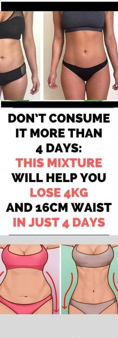 Don't Consume It More Than 4 Days: This Mixture Will Help You Lose and Waist in Just 4 Days – Recipe - NZ Holistic Health Health Tips For Women, Health Advice, Health And Beauty, Health Care, Mental Health, Women Health, Party Platters, Start Losing Weight, How To Lose Weight Fast