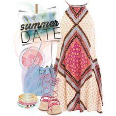 Summer Date: The Beach by andrejae on Polyvore featuring moda, MINKPINK, Stuart Weitzman, Michael Kors, Robert Rose, beach and summerdate