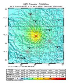 Shallow M5.6 earthquake hits Oklahoma, ties with state's strongest earthquake…