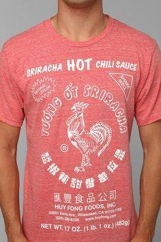 Sriracha Tee -- for those of you who are aware of my obsession with Siracha sauce #urbanoutfitters