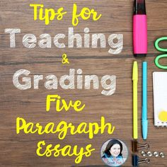 Tips for Teaching and Grading Five Paragraph Essays five paragraph essays teaching essays fifth grade writing sixth grade writing Writing Lessons, Writing Resources, Teaching Writing, Writing Activities, Writing Skills, Writing Services, Teaching Ideas, Writing Ideas, Teaching English