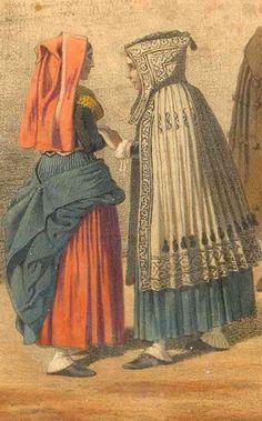 """Costume d'ossau: Cape féminine de deuil :"""" Capot de dòu"""". En laine blanche, décorée « à la soutache » de motifs de laine brune, répartis symétriquement sur la capuche, le dos et le bas de la cape. French Costume, Portraits, Pyrenees, Traditional Dresses, Culture, Aquitaine, Costumes, Motifs, Images"""