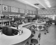 Blue Bell Soda Fountain 1940s Vintage 8x10 Reprint Of Old Photo