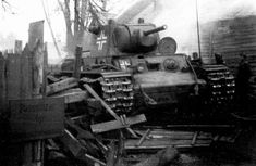 "gruene-teufel: "" A Soviet tank in German service is seen here in debris on the Eastern Front. The was used in German hands under the designation PzKpfw The tank was easily the most."