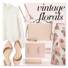 """""""miss floral."""" by weirdestwitch ❤ liked on Polyvore featuring MANGO, Mark Cross, Miss Selfridge, Puma, Gucci and LC Lauren Conrad"""
