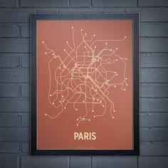 Lineposter Paris Screen Print