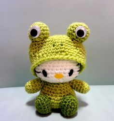 Crochet Kitten Stitch : Frog Amigurumi Hello Kitty by OrangeZoo, via Flickr More