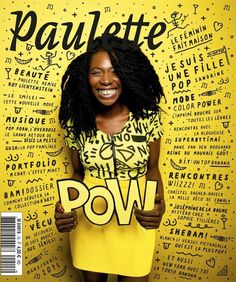 Paulette The yellow is the obviously the main color of this design photo and really does great job of helping the black lettering to stand out Food Graphic Design, Graphic Design Trends, Graphic Design Inspiration, Book Design, Design Art, Design Ideas, Design Editorial, Editorial Layout, Magazine Layout Design