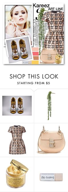 """""""Kareez ART LINE 3"""" by fashionmonsters ❤ liked on Polyvore featuring RED Valentino, Chloé and Peter Thomas Roth"""