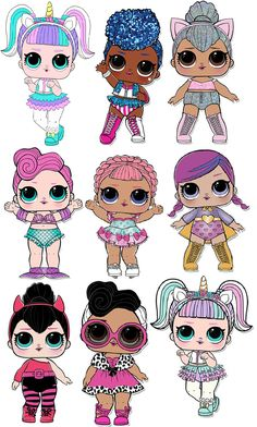 I want lol 6th Birthday Parties, Girl Birthday, Birthday Ideas, Glitter Party Decorations, Lol Doll Cake, Cute Kawaii Drawings, Cartoon Drawings, Doll Party, Party Stuff