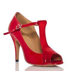 New Red Black Womens Ballroom Dance shoes SALSA Latin Bachata Dance Shoes US 5-9 #YeahDance