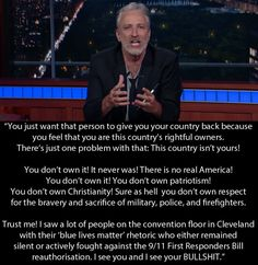 Here is what he said at the end of his monologue. | Jon Stewart Has Returned With A Rant About Fox News And Donald Trump