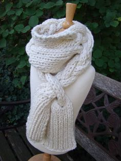This is a fast and fun scarf that you can whip up on big needles in no time at all