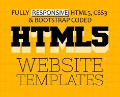 New Multipurpose Responsive HTML5 Templates (PSD & HTML) #htmltemplates #html5css3 #webtemplates #psdtemplates #responsivedesign