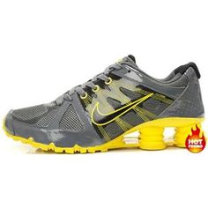 ... Black Silver www.asneakers4u.com/ Mens Nike Shox Agent Grey Yellow