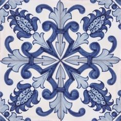 2304 Portuguese handmade majolica tile Luxurious Wall & Floor Ceramic Tile Azulejo (Lambrim) Repetitive Patterns BAROQUE DESIGNS Tile size: x x / x Traditional hand painted majolica Handmade filtered Tile Art, Mosaic Tiles, Tiling, Wall Tile, Tuile, Baroque Design, Spanish Tile, Blue Tiles, White Tiles