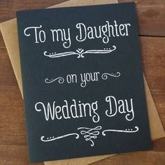 DAUGHTER GIFT on Her Wedding Day from Mom Wedding Day Gift for ...