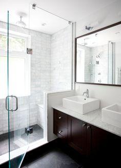 casa de banho chuveiro espelho