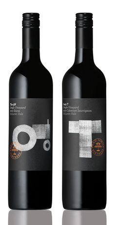 Chunky black and white ilustration, some simple typography and a shiny foil-blocked seal. What more do you need. A new Single Vineyard range for Shaw Family Vintners, design by Parallax, Sydney.