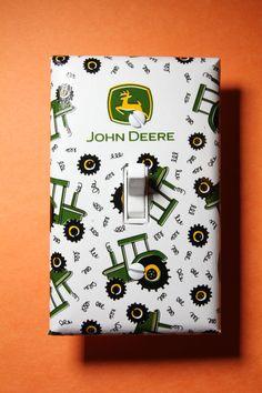 John Deere Tractor Light Switch Cover Plate by ComicRecycled … John Deere Nursery, John Deere Bedroom, Tractor Bedroom, John Deere Kids, John Deere Baby, John Deere Kitchen, Tractor Lights, John Deere Decor, John Deere Tractors