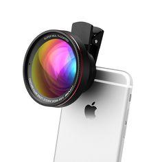 Mpow 2 in 1 Clip-on 0,6 X Professional Weitwinkel High Definition-Objektiv mit 37mm Gewinde, 10-X-Makro-Objektiv für iPhone SE 6/s, 6, 5/s, Android und alle anderen Smart Phones und Fachkameras