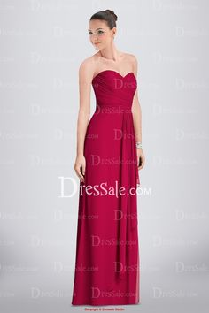 Romantic Full Length Sweetheart Chiffon Bridesmaid Dress with Ruched Bodice and Draped Detail