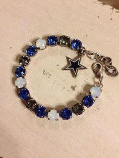 Items similar to Dallas Cowboys Swarovski team bracelet on Etsy Dallas Cowboys Baby, Cowboys 4, Dallas Cowboys Football, Cowboy Love, Cowboy Gear, Jewelry Accessories, Unique Jewelry, Bracelet Making, Bracelets