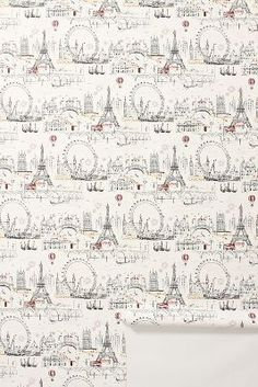 C'est Magnifique Wallpaper from Anthropologie uk