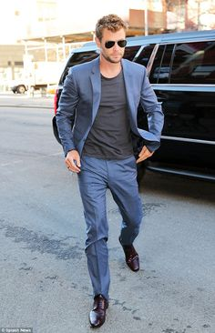 Good (Norse) god! Chris Hemsworth looks hot as he heads back to his hotel in New York
