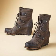 db7a94d3 Joan of Arctic mid wedges - Sundance Catalog Sorel Wedge Boots, Wedge Snow  Boots,