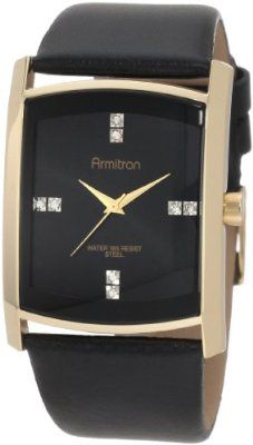Shimmering crystals and sleek silver-tone accents define the Armitron Men's Swarovski Crystal Accented Silver-Tone Black Leather Strap Watch. Black Stainless Steel, Stainless Steel Watch, Emporio Armani, Cool Watches, Watches For Men, Wrist Watches, Men's Watches, Michael Kors, Swarovski Crystals